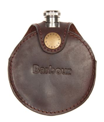Barbour Round Hip Flask