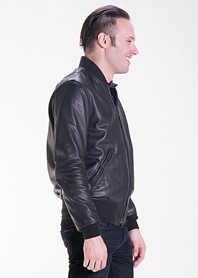 Schott Ma 1 Leather Bomber Jacket In Lightweight Natural