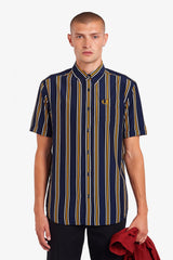 Fred Perry Vertical Striped Short Sleeve Button Up