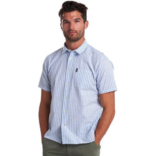 Barbour Seersucker 8 Short Sleeve Button Up