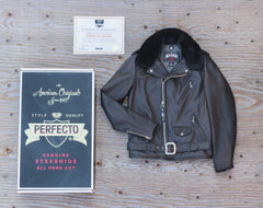 Schott PER90 90th Anniversary Leather Motorcycle Jacket