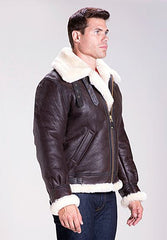 Schott Classic B-3 Sheepskin Leather Bomber Jacket