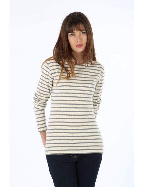 Armor Lux Women's Long Sleeve Breton Striped Heritage Shirt