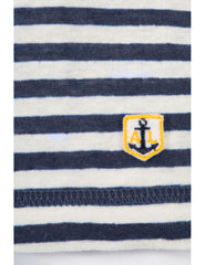Armor Lux Women's Cotton/Linen Long Sleeve Breton Striped Heritage Shirt