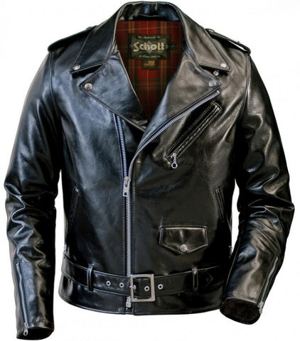 Schott Lightweight Waxy Cowhide Fitted Motorcycle Jacket 626