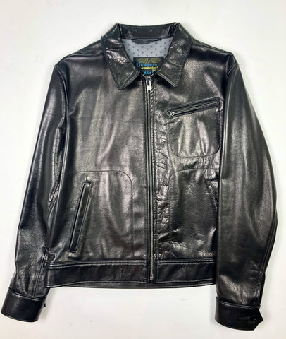 Schott 575 Unlined Waxy Cowhide Leather Delivery Jacket