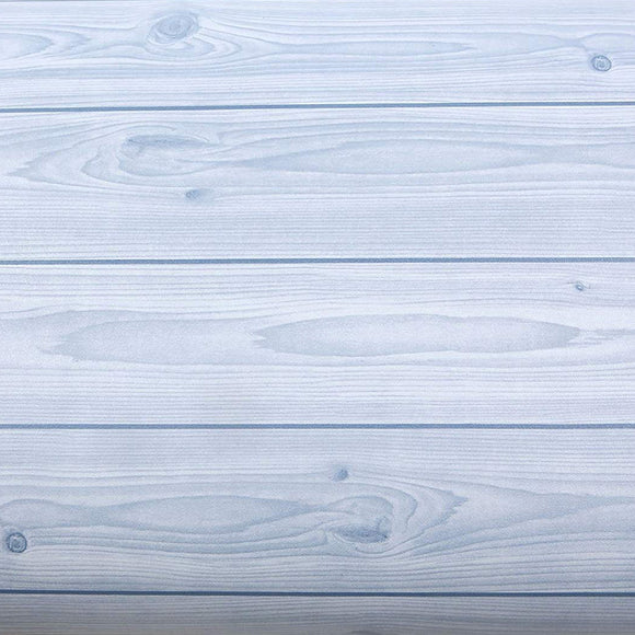 ROSEROSA Peel and Stick PVC Reclaimed Wood Decorative Instant Self-Adhesive Covering Countertop Backsplash Blue S4152-9 : 2.00 feet X 6.56 feet
