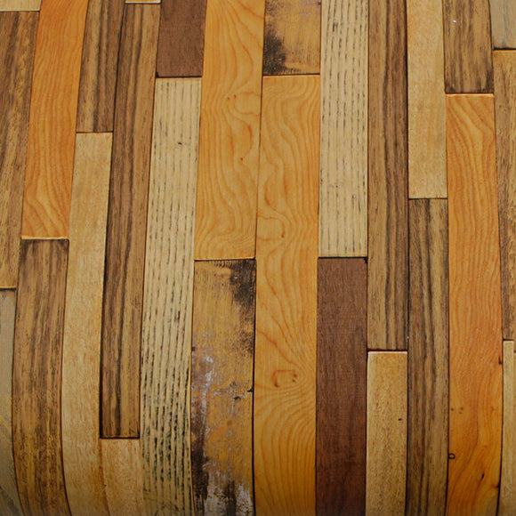 ROSEROSA Peel and Stick PVC Reclaimed Wood Self-adhesive Covering Countertop Backsplash Panel 22505