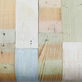 ROSEROSA Peel and Stick PVC Reclaimed Wood Self-adhesive Covering Countertop Backsplash Panel 22506