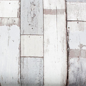 ROSEROSA Peel and Stick PVC Reclaimed Wood Decorative Instant Self-Adhesive Covering Countertop Backsplash Gray 22518 : 1.64 feet X 9.84 feet