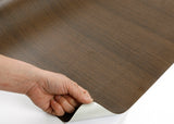 ROSEROSA Peel and Stick PVC Natural Teak Self-adhesive Covering Countertop Backsplash PG4039-1