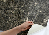 ROSEROSA Peel and Stick PVC Marble Instant Self-adhesive Covering Countertop Emperador S4710-1