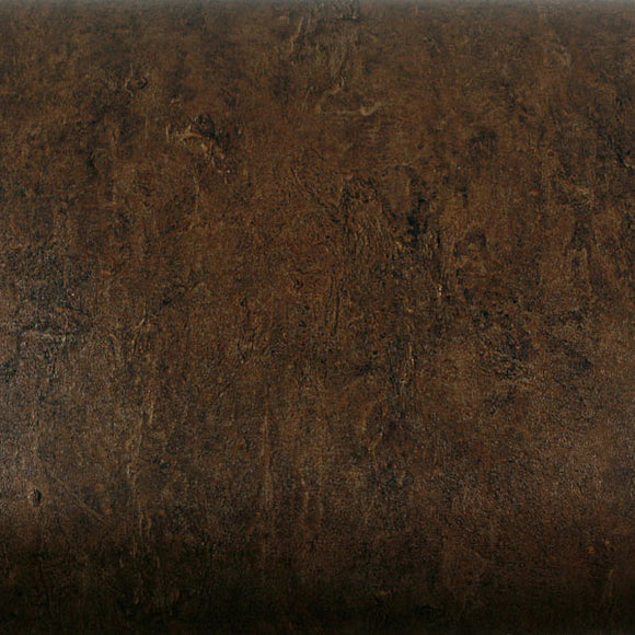 ROSEROSA Peel and Stick PVC Faux Stone Decorative Instant Self-Adhesive Covering Countertop Backsplash Brown AB011 : 2.00 feet X 6.56 feet