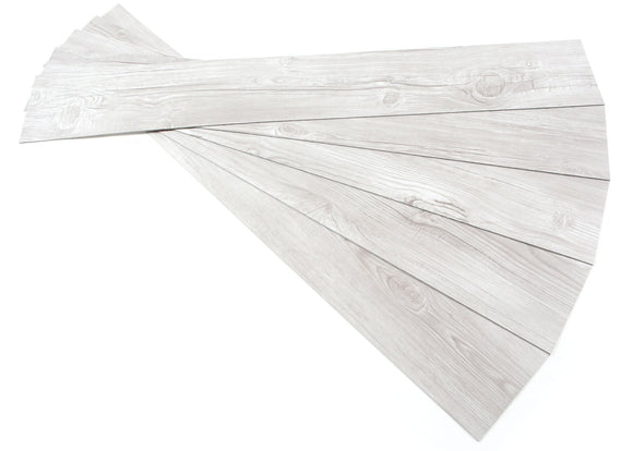 ROSEROSA Peel and Stick Engineered PVC Plank Wood Pattern Durable Vinyl Flooring (ECK-909 : 5 Planks)