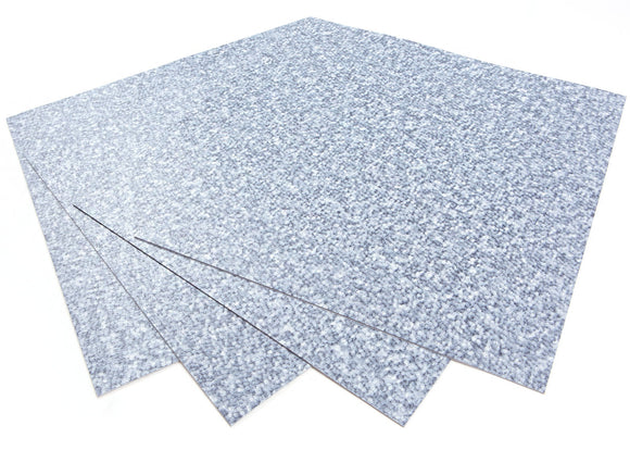 ROSEROSA Peel and Stick Engineered PVC Tiles Carpet Pattern Durable Vinyl Flooring (ECK-101 : 4 Tiles)