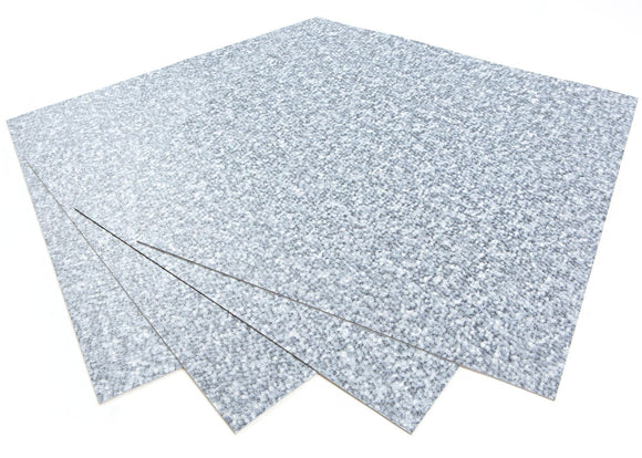 ROSEROSA Peel and Stick Engineered PVC Tiles Carpet Pattern Durable Vinyl Flooring (ECK-102 : 4 Tiles)
