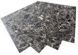ROSEROSA Peel and Stick Engineered PVC Tiles Mable Granite Pattern Durable Vinyl Flooring (ECK-302 : 4 Tiles)