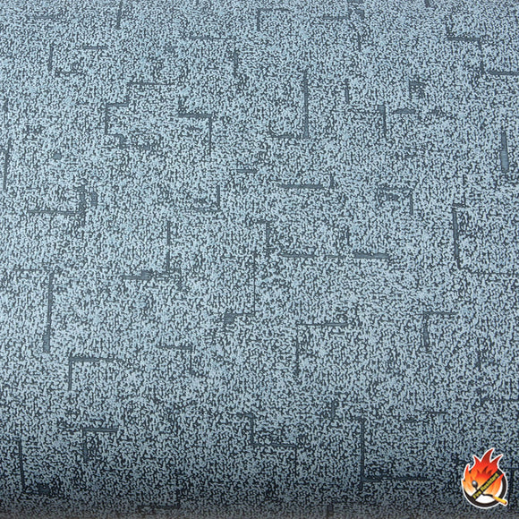 ROSEROSA Peel and Stick Flame Retardation PVC Fabric Self-Adhesive Covering Countertop Blue FLW861
