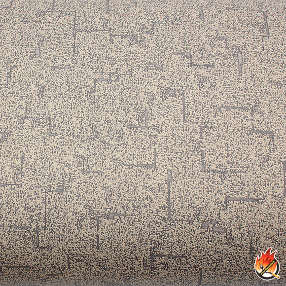 ROSEROSA Peel and Stick Flame Retardation PVC Fabric Self-Adhesive Covering Countertop Brown FLW862