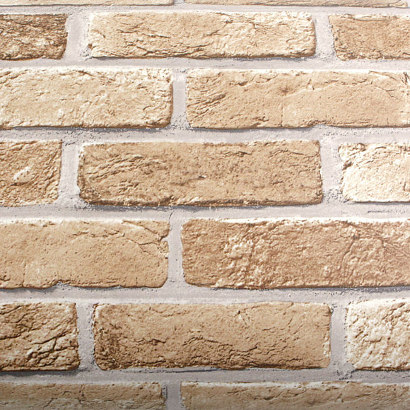 ROSEROSA Peel and Stick PVC Faux Brick Decorative Instant Self-Adhesive Covering Countertop Backsplash Sharon Brick GM726(4246-1) : 2.00 feet X 6.56 feet