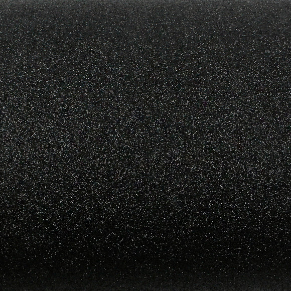 ROSEROSA Peel and Stick Glitter Sand Crafting Tape Instant Self-Adhesive Covering Wallpaper - Black