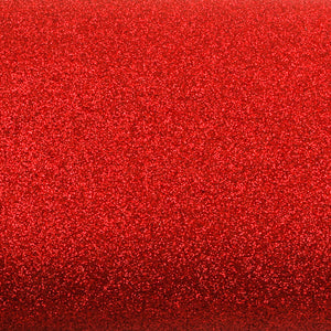 ROSEROSA Peel and Stick Glitter Sand Crafting Tape Instant Self-Adhesive Border Sticker - Red