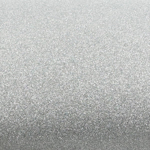 ROSEROSA Peel and Stick Glitter Sand Crafting Tape Instant Self-Adhesive Covering Wallpaper - Silver