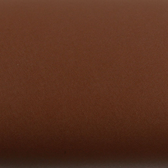 ROSEROSA Peel and Stick Faux Leather Pre-Pasted Polyurethane Leather Self-Adhesive Multipurpose Wall Paper (Grill Brown : 19.68 inch X 53.14 inch)