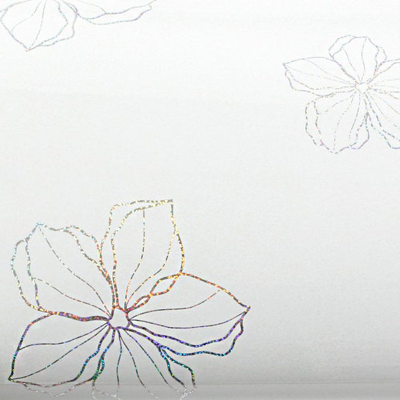 ROSEROSA Peel and Stick PVC High Glossy Hologram Self-adhesive Covering Modern Flower H8004-1