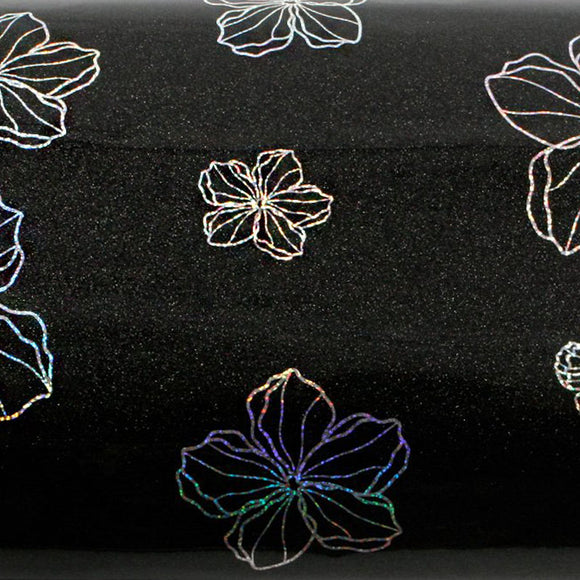 ROSEROSA Peel and Stick PVC High Glossy Hologram Self-adhesive Covering Modern Flower H8024-3