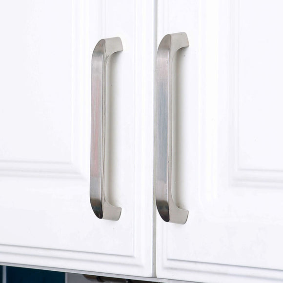 Set of 4pcs Steel Door Handles Pulls for Cupboard Cabinet Drawer JP2024-Silver : 4 Handles