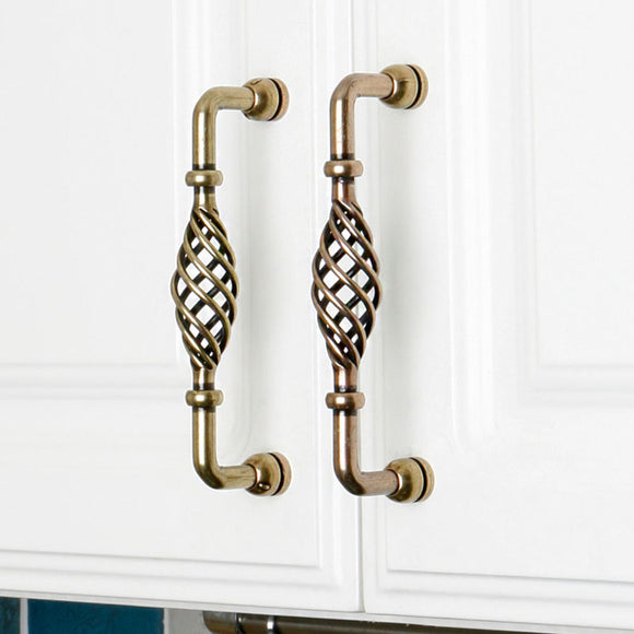 Set of 4pcs Metal Door Handles Pulls for Cupboard Cabinet Drawer JP3001-Bronze : 4 Handles