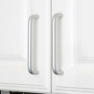 Set of 4pcs Metal Door Handles Pulls for Cupboard Cabinet Drawer JP5704-Matte Silver : 4 Handles