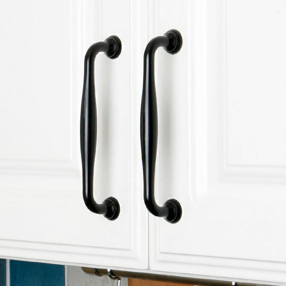 Set of 4pcs Metal Door Handles Pulls for Cupboard Cabinet Drawer JP6660-Black : 4 Handles