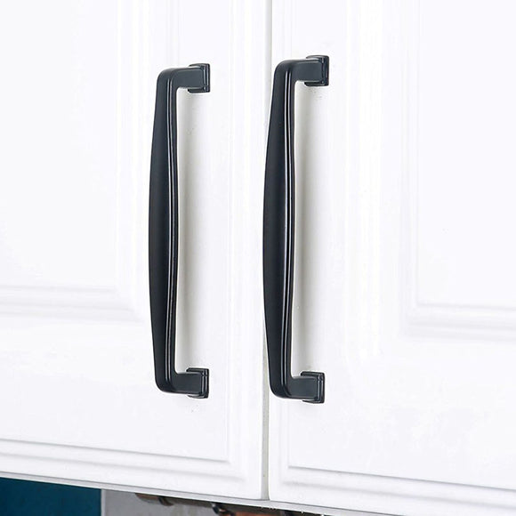 Set of 4pcs Metal Door Handles Pulls for Cupboard Cabinet Drawer JP7604-Black : 4 Handles