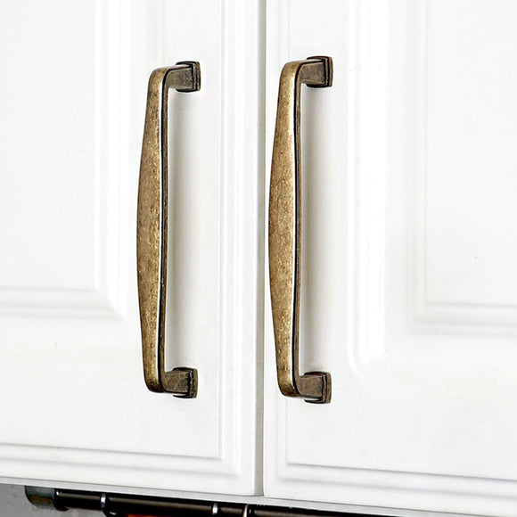 Set of 4pcs Metal Door Handles Pulls for Cupboard Cabinet Drawer JP7604-Bronze : 4 Handles