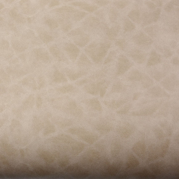 ROSEROSA Peel and Stick PVC Solid Leather Self-Adhesive Covering Countertop Backsplash Beige LW411