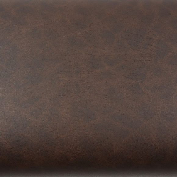 ROSEROSA Peel and Stick PVC Solid Leather Self-Adhesive Covering Countertop Backsplash Brown LW412