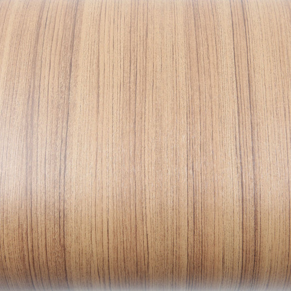 ROSEROSA Peel and Stick PVC Teak Wood Instant Self-adhesive Covering Countertop Backsplash LW495