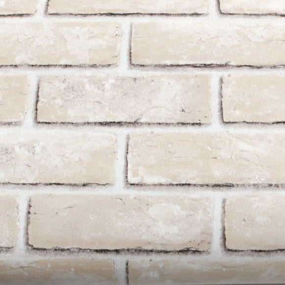 ROSEROSA Peel and Stick PVC Faux Brick Instant Self-Adhesive Covering Countertop Backsplash LW741
