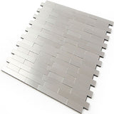 ROSEROSA Peel and Stick Metal Tile Backsplash for Kitchen, Wall Tiles Brushed Aluminum Surface : Pack of 5 (Metal-306)