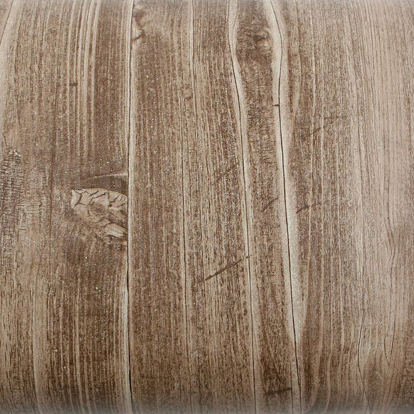 ROSEROSA Peel and Stick PVC Panel Wood Decorative Instant Self-Adhesive Covering Countertop Backsplash Antique Wood Knot PG2134-2 : 1.96 Feet X 8.20 Feet