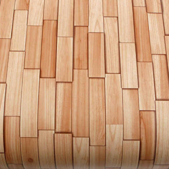 ROSEROSA Peel and Stick PVC Slice Cedar Wood Self-adhesive Covering Countertop Backsplash PG4373-4