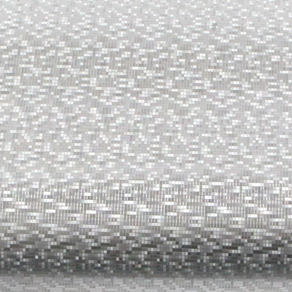ROSEROSA Peel and Stick PVC Instant Fabric / Textile Decorative Self-Adhesive Film Countertop Backsplash Sparkling Square PGS5145-1 : 1.96 Feet X 8.20 Feet
