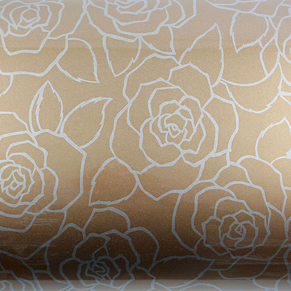 ROSEROSA Peel and Stick PVC Floral Self-adhesive Covering Countertop Backsplash Rosesupia PGS9028-1