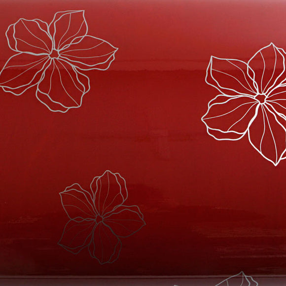 ROSEROSA Peel and Stick PVC Self-adhesive Covering Countertop Backsplash Modern Flower S PGS9158-3