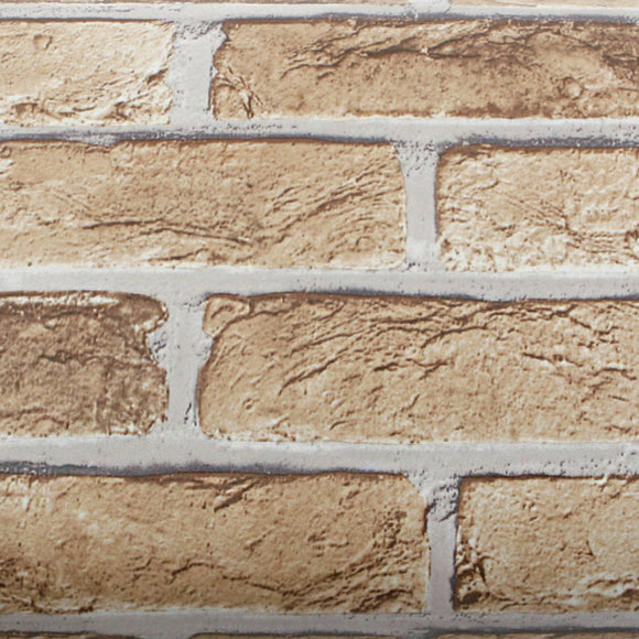 ROSEROSA Peel and Stick PVC Faux Brick Decorative Instant Self-Adhesive Covering Countertop Backsplash Sharon Brick S4246-1 : 1.64 feet X 8.20 feet