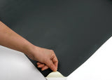 ROSEROSA Peel and Stick Flame Retardation PVC Solid Self-adhesive Covering Countertop Dark Gray SF50