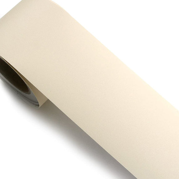 ROSEROSA Peel and Stick Solid Beige Instant Border Sticker Self-Adhesive Wallpaper - SG29B