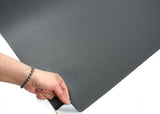 ROSEROSA Peel and Stick PVC Solid Instant Self-adhesive Covering Countertop Dark Gray SL556